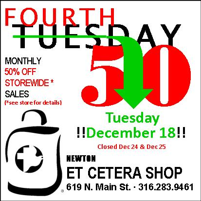 Holiday Events and Closings for Newton Et Cetera Shop